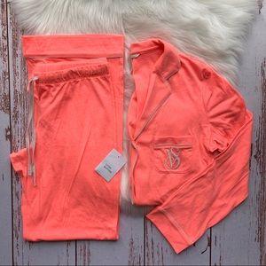 Victoria's Secret Hot Pink Pajama Set NWT